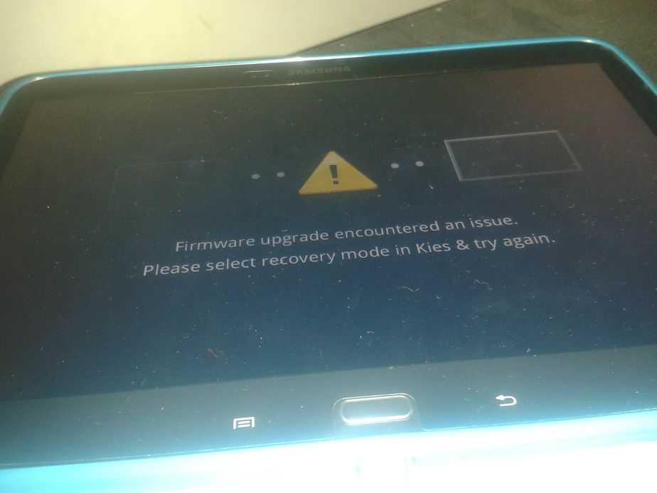 Firmware upgrade encountered an issue. Please select recovery mode in Kies & try again.