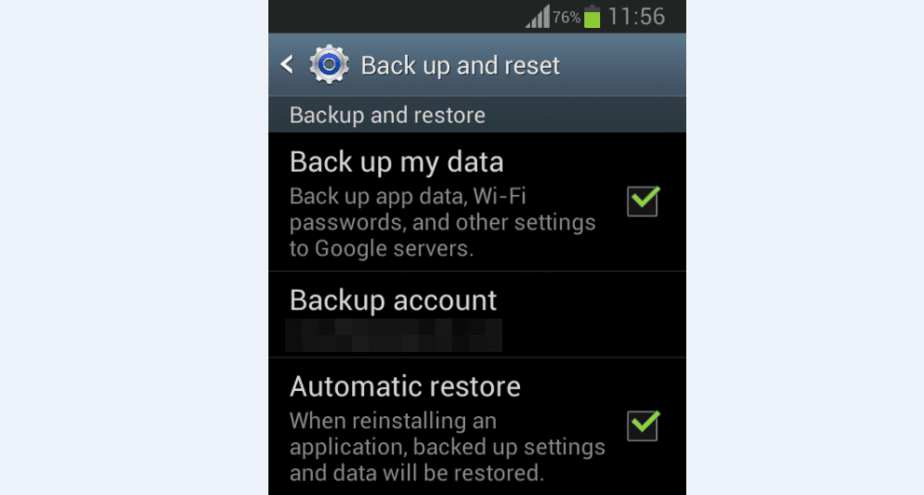 Android Backup options