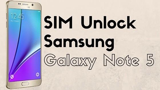 SIM Unlock Samsung Galaxy Note 5