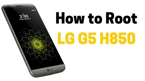 Root LG G5 H850
