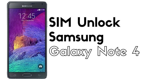 unlock galaxy note 4
