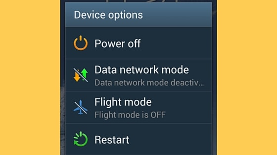 Android Galaxy Power off screen