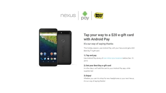 Android Pay $20 Promo Credit