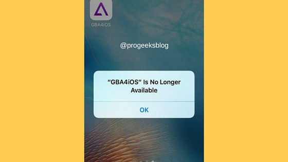 GBA4iOS is no longer available