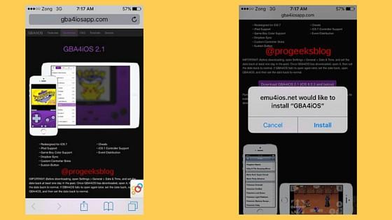 Install GBA Emulator iOS step 1
