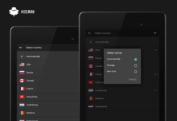 Hideman-free-android-vpn-app
