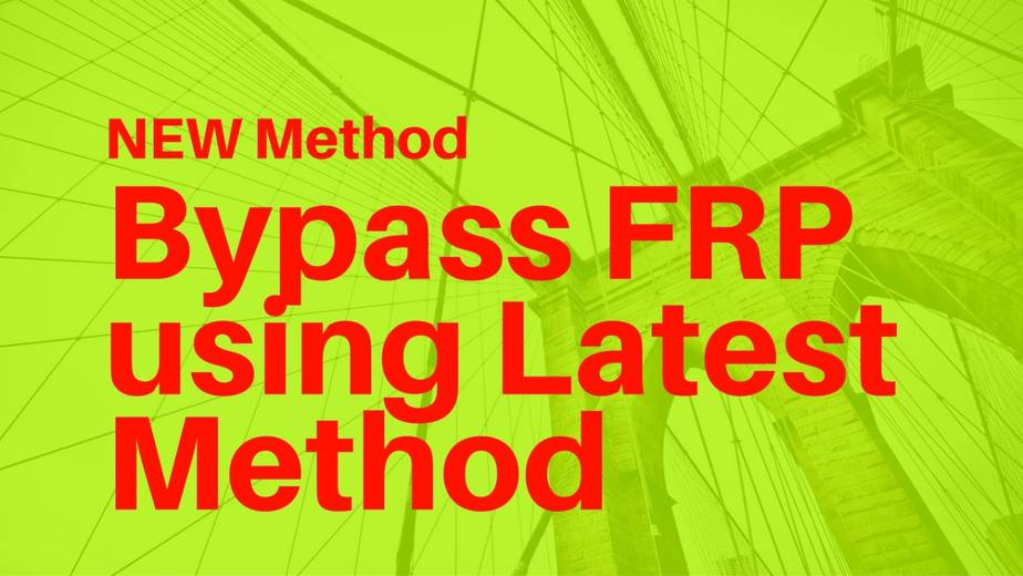 NEW Method to bypass FRP