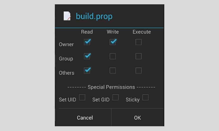Nokia X root - File explorer permission screen