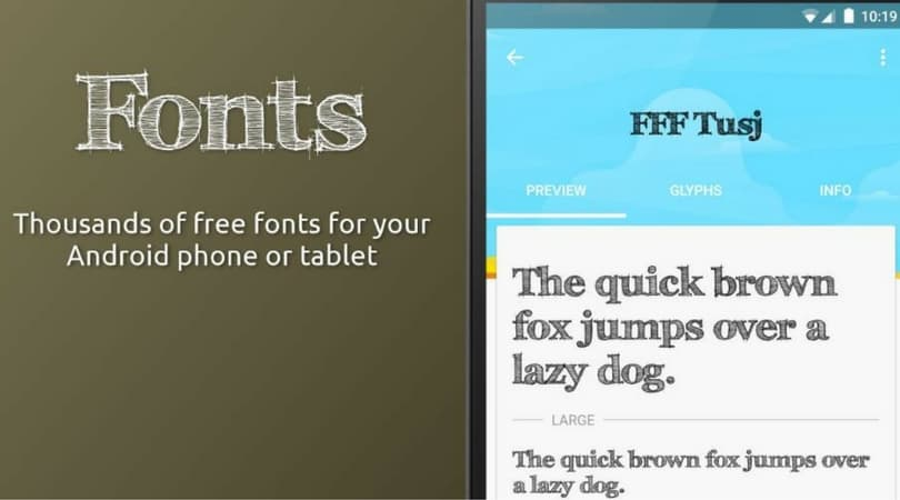 free fonts for android