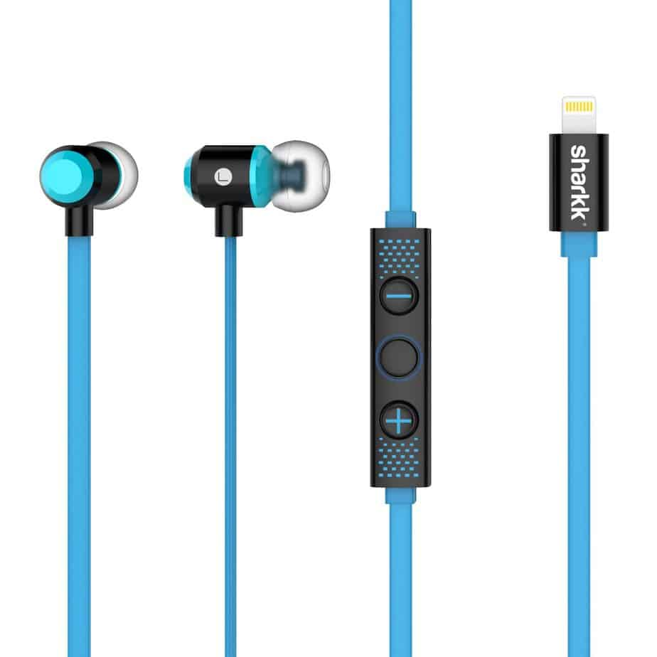 SHARKK Lightning Headphones Tear Resistant Cable with Volume Control Apple MFi Certified for iPhone 7 and 7 Plus