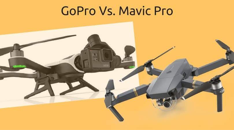 Mavic Pro and GoPro Karma comparison