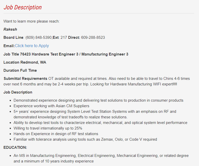 swipe leftright to see more - Manufacturing Engineering Job Description