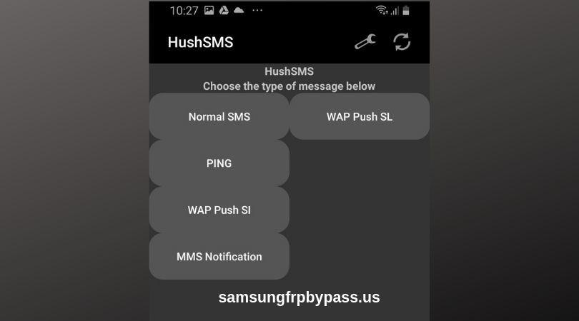 Hushsms frp bypass app