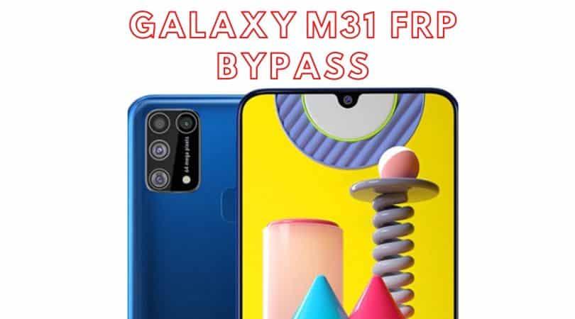 Galaxy M31 Gmail verification bypass